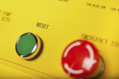 Reset and stop switches Royalty Free Stock Images