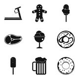 Reset weight icons set, simple style. Reset weight icons set. Simple set of 9 reset weight vector icons for web isolated on white background Royalty Free Stock Photos