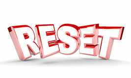 Reset Word Restart New Beginning Do Over Stock Photography