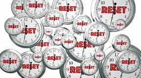 Reset Your Clocks Time Flying Word. 3d Illustration Stock Photography