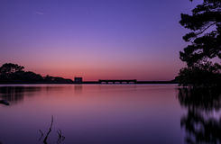 Resevoir Sunset. A gorgeous Sunset at Guernsey Resevoir Royalty Free Stock Photography