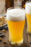Resfreshing Golden Lager Beer Stock Photo