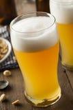 Resfreshing Lager Beer de oro fotos de archivo libres de regalías