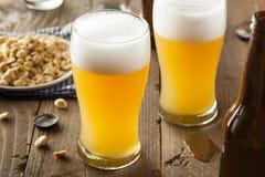 Resfreshing Lager Beer de oro imagen de archivo