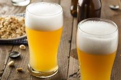 Resfreshing Lager Beer de oro imagen de archivo libre de regalías