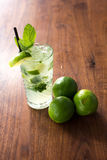 Resfreshing Mojito. Mojito made with fresh mint and lime Royalty Free Stock Photo