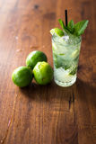 Resfreshing Mojito. Mojito made with fresh mint and lime Stock Photo