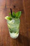 Resfreshing Mojito. Mojito made with fresh mint and lime Stock Photography
