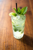 Resfreshing Mojito. Mojito made with fresh mint and lime Stock Photos