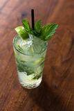 Resfreshing Mojito. Mojito made with fresh mint and lime Stock Images