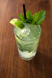 Resfreshing Mojito. Mojito made with fresh mint and lime Royalty Free Stock Photography