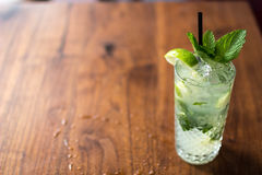 Resfreshing Mojito. Mojito made with fresh mint and lime Stock Image