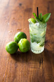 Resfreshing Mojito. Mojito made with fresh mint and lime Royalty Free Stock Images