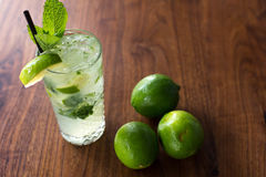 Resfreshing Mojito. Mojito made with fresh mint and lime Royalty Free Stock Photos