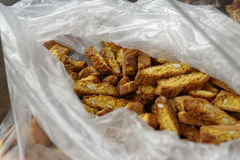 Resh baked almond cookies, cantuccini Royalty Free Stock Image