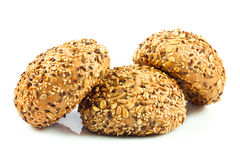 resh buns with different seeds. Royalty Free Stock Photo