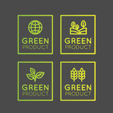 Resh Organic, Eco Product, Bio Ingredient Label with Leaf, Earth, Green Concep Royalty Free Stock Photography