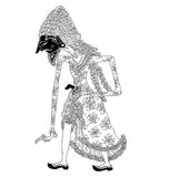 Resi Druwasa. A character of traditional puppet show, wayang kulit from java indonesia royalty free illustration