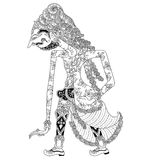 Resi Gotama. A character of traditional puppet show, wayang kulit from java indonesia royalty free illustration