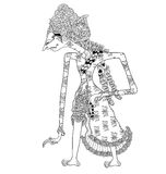 Resi Rawatmaja. A character of traditional puppet show, wayang kulit from java indonesia stock illustration