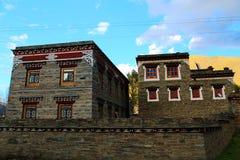 Residência e construção tibetanas Fotos de Stock