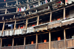 Residência no castelo da terra, Fujian, China Fotos de Stock