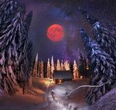 Residência Santa Claus Imagens de Stock Royalty Free