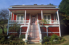Residência vermelha Fotos de Stock Royalty Free