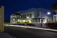 Residências e escritórios na estrada da baía de Pitts - Pembrook, Bermuda Fotos de Stock Royalty Free