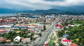 Residantial and industrial areas outside of Batumi Royalty Free Stock Photography