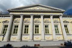 Residence of the Ambassador of Spain in Spasopeskovskiy pereulok, 8. Former city manor of A.G. Shchepochkoy - N.A. Of Lviv. Royalty Free Stock Image