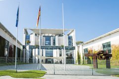 Residence of German Chancellor. Offical residence of the German Chancellor Angela Merkel in Berlin, Europe, called Bundeskanzleramt royalty free stock image