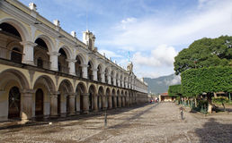 Residence of the Captain General of General Captaincy of Guatemala during the Spanish colony in Antigua. Residence of the Captain General of General Captaincy of royalty free stock image