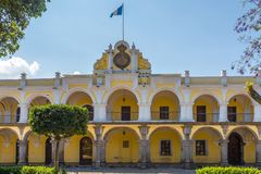Residence of the Captain General at the Mayor place of Antigua Guatemala. Building Residence of the Captain General at the Mayor place of Antigua Guatemala stock photo