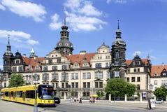 Residence castle in Dresden Stock Photo