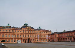 Residence castle Rastatt. The Rastatter residence castle and the garden were built around 1700 by order of the margrave Ludwig Wilhelm of Baden-Baden Royalty Free Stock Photography