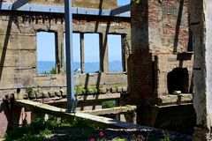 Residence des Wärters, Alcatraz Lizenzfreies Stockbild