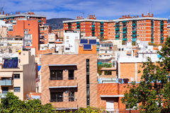 Residence district in Badalona from high point Stock Photography