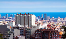 Residence district in Barcelona, Spain Royalty Free Stock Photo