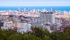 Residence district in Barcelona Royalty Free Stock Photos