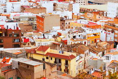 Residence district of Sagunto in summer Royalty Free Stock Photo