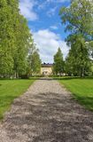 The residence in early summer greenery. County Governor's Residence Luleå construction began 1852nd Royalty Free Stock Image