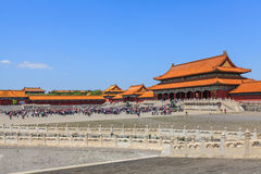 Residence of emperors of the Ming and Qing dynasties. Beijing, China - April 28, 2015: Forbidden City, Beijing, China. Residence of emperors of the Ming and Qing Royalty Free Stock Image