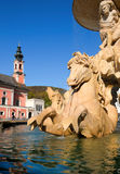 Residence Fountain in Salzburg, Austria Stock Photography
