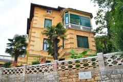 The residence of Franz Joseph I of Austria in Opatia. Opatija, Croatia - September 10, 2015: The residence of Franz Joseph I of Austria Stock Photography
