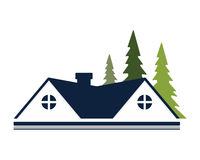 Residence house image. Good logo or image for your company Stock Images