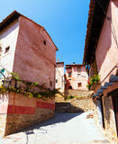Residence  houses in ordinary street of spanish town Stock Photography