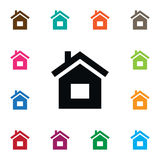 Residence Icon. Build Vector Element Can Be Used For Residence, Home, House Design Concept. Stock Photo