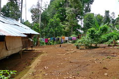 The residence of the indigenous. Kelantan, as well as the local indigenous villages Stock Photography