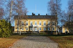 The residence in Luleå. County Governor's Residence in Luleå is one of two residences in Sweden, which is built of wood stock image